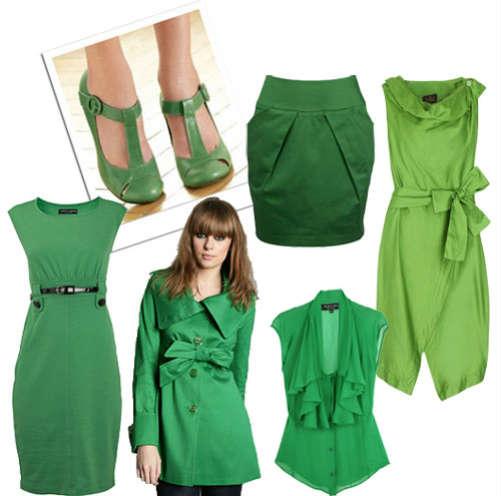 Зеленый цвет для свежих и оригинальных образов